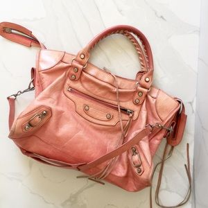 Balenciaga Classic City Purse Rare Pink Love